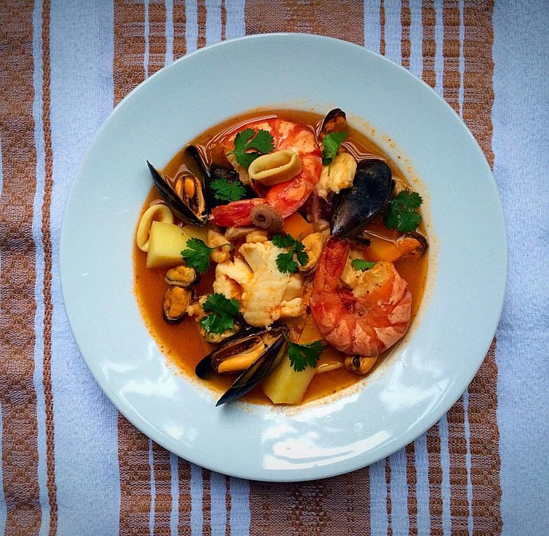Caldo siete mares sea food broth seven seas for Cocinar 7 mares