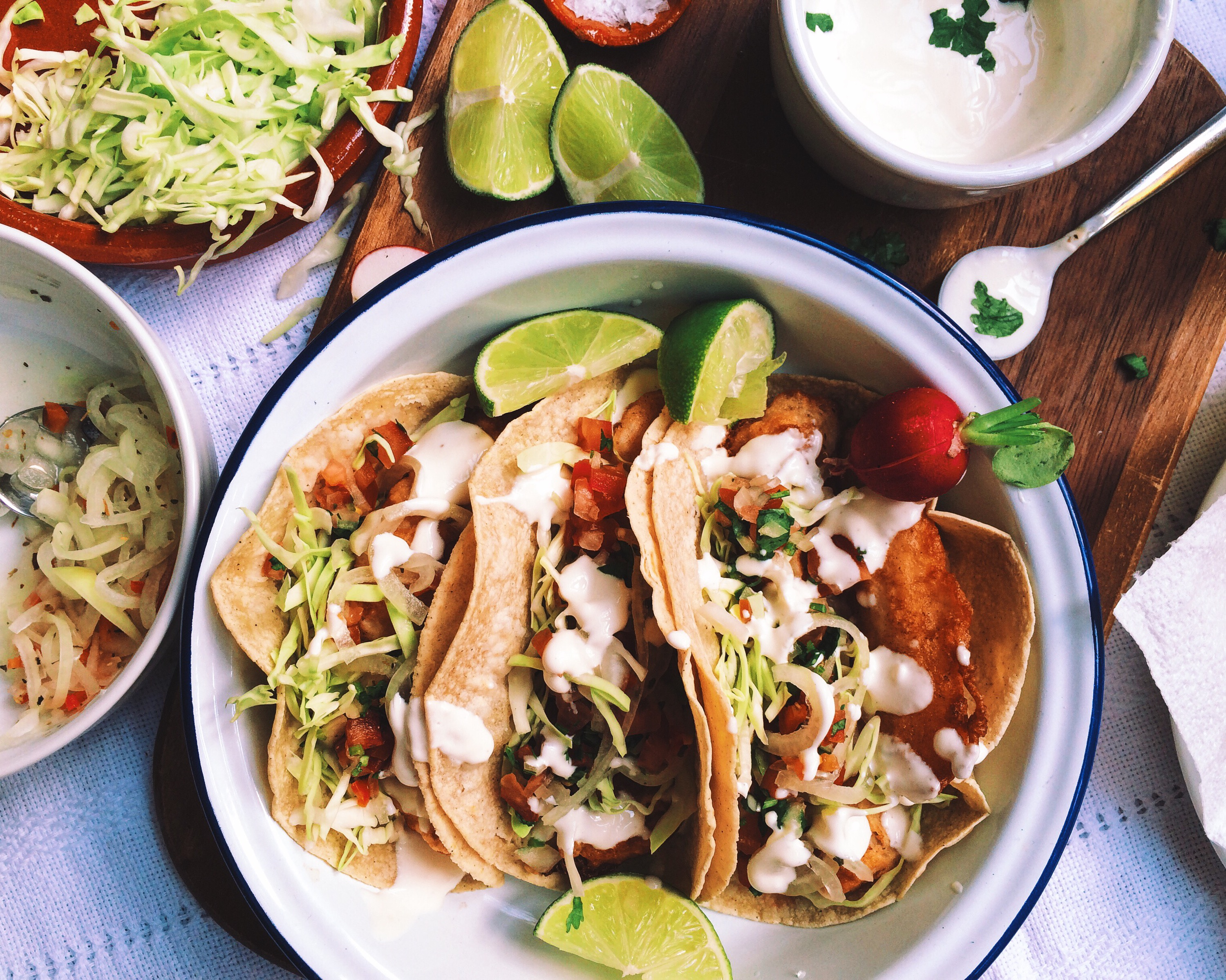 Cooking comadres ensenada style menu for Authentic fish tacos