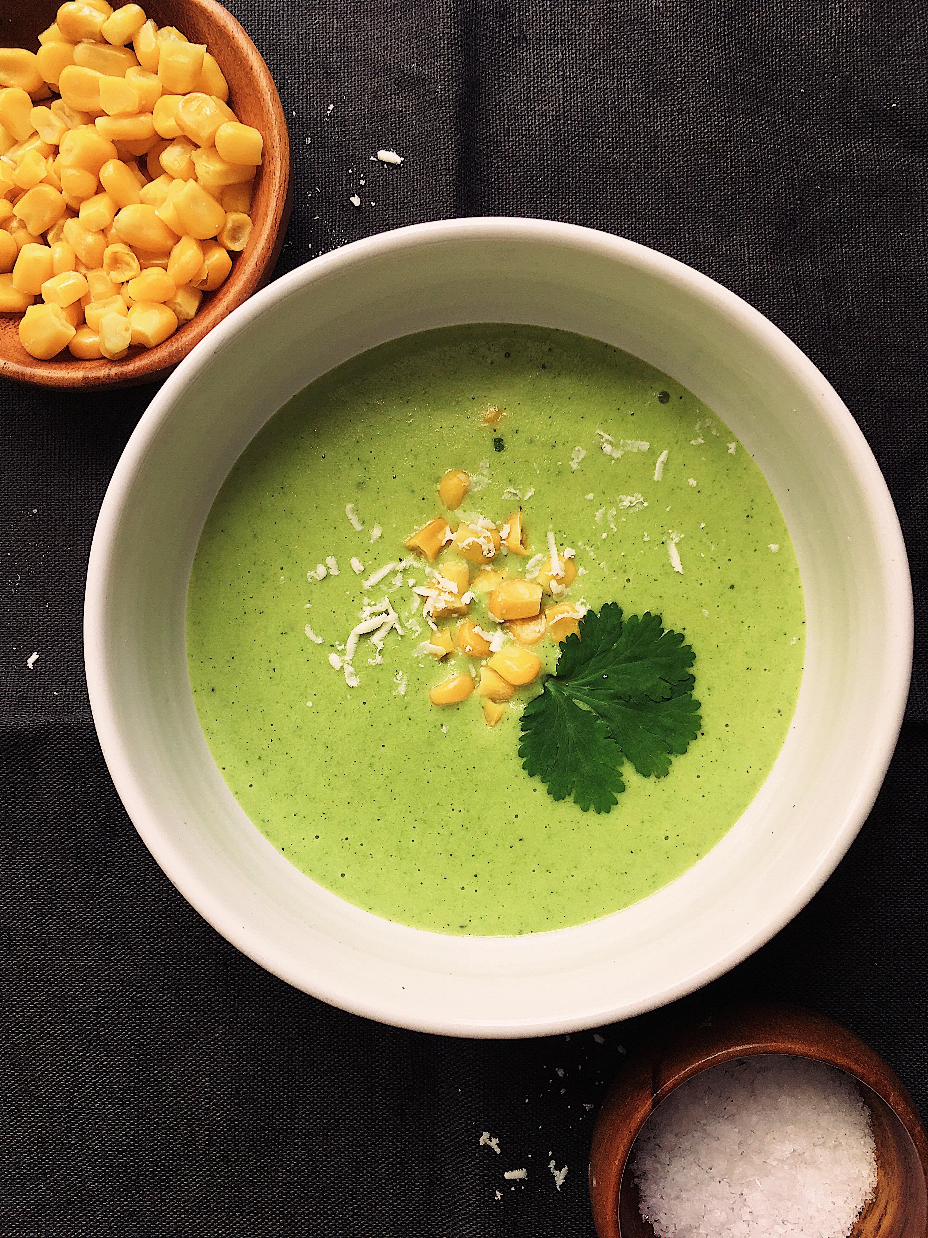 Crema de Rajas (Poblano Rajas Cream Soup)