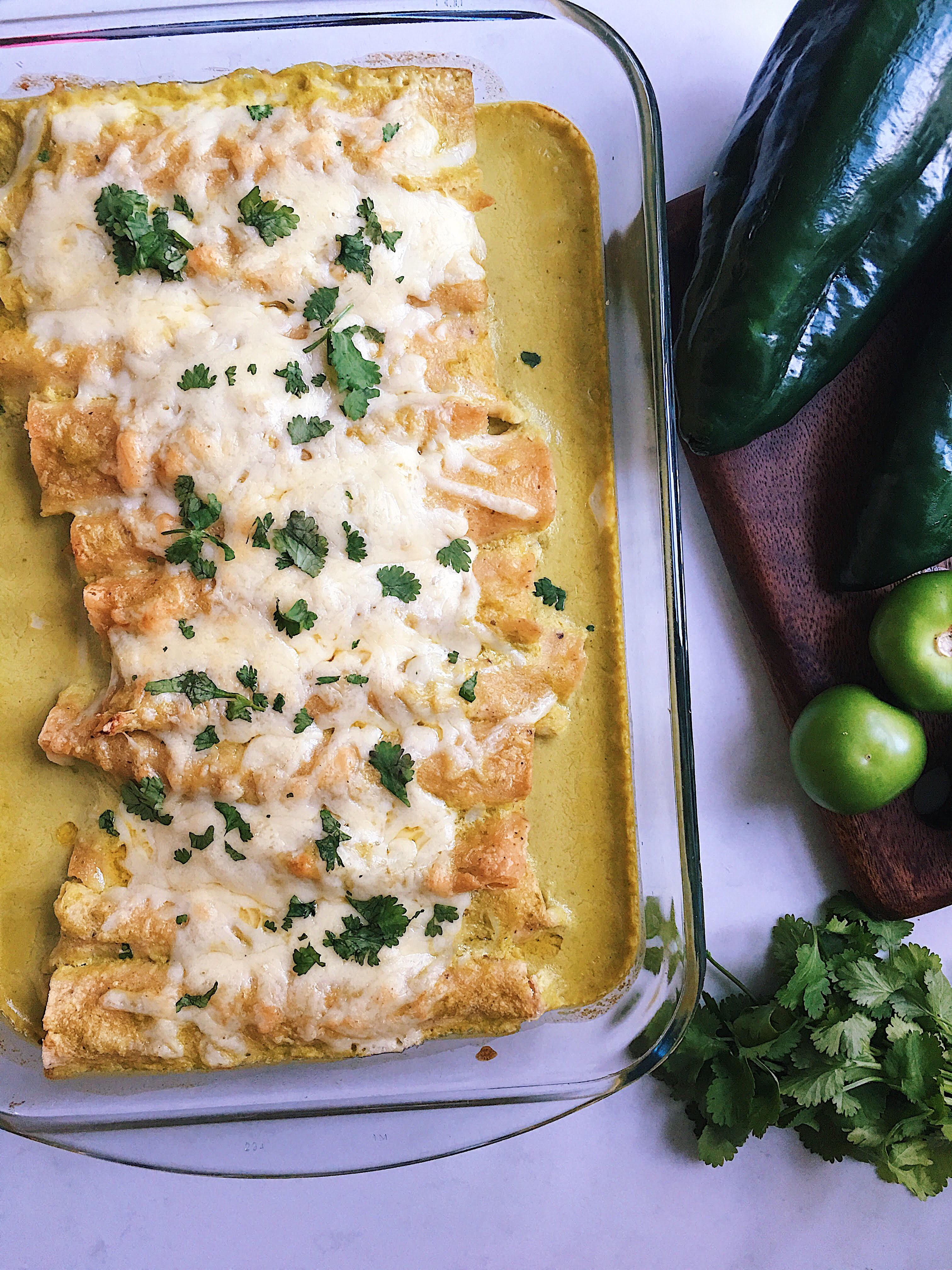 Enchiladas Suizas (Swiss Enchiladas)